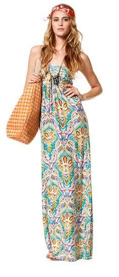 Spring maxi dress - playful!