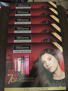 7 Day TRESEMME Keratin Smooth System Shampoo Condition & Style Samples Lot of 6  | eBay