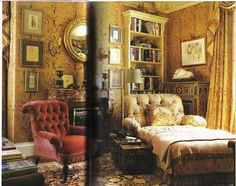 The Peak of Chic®: Mark Hampton circa 1992 French Living, Luxe Decor, Home And Living, Living Room Designs, Interior, Beautiful Interiors, Interiors Dream, Romantic Interior, Home Decor