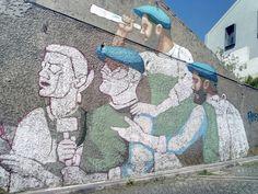 www.instagram.com/umots Graffiti Drawing, Mural Art, Street Art, Walls, Portraits, Drawings, Illustration, Artwork, Sketches
