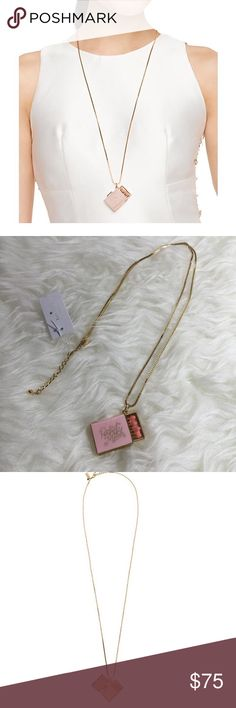 "Kate Spade Meet Your Match Locket Kate Spade meet your match locket necklace. 12 karat gold plated metal with enamel fill. Lobster claw closure. Chain length 32"". The kind of matches that starts fires. Opens. Pink multi. kate spade Jewelry Necklaces"