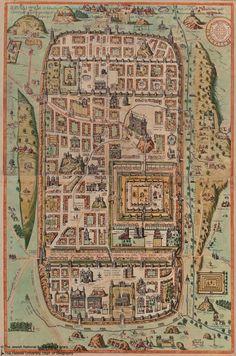 Adrichem, Christiaan van, 1533-1585 IERVSALEM, et suburbia eius, sicut tempore Christi floruit, cu locis, in quib' Christ pass' est. [1590]