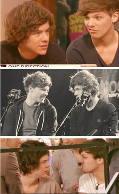 Louis Tomlinson and Harry Styles - when louis makes faces at harry <3