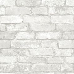 Brick Peel-and-Stick Wallpaper (185 AUD) ❤ liked on Polyvore featuring home, home decor, wallpaper, stick wallpaper, peelable vinyl wallpaper, removing vinyl wallpaper, peel & stick wallpaper and pattern wallpaper