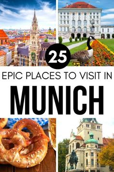 25 Best Places To Visit In Munich Germany + Interactive Map Berlin Travel, Germany Travel, Beautiful Places To Visit, Cool Places To Visit, Munich Attractions, Visit Munich, Munich Germany, Interactive Map, Europe Travel Tips