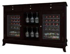 Cava 36-Bottle Dual-Zone Thermoelectric Wine Credenza - Espresso - Wine Coolers at Hayneedle