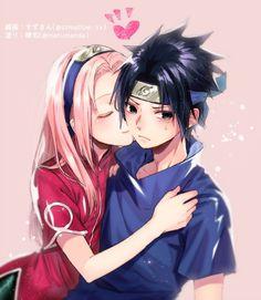 Anime Naruto, Naruto Shippuden Sasuke, Naruto And Sasuke, Sasuke Uchiha Sakura Haruno, Naruto Team 7, Naruto Girls, Kakashi, Anime City, Loli Kawaii