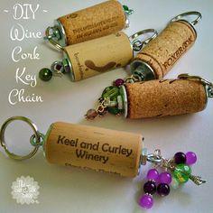 The SweetTalk Shop: DIY | Wine Cork Key Chains  no link