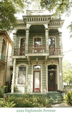 Esplanade Avenue, New Orleans... d-architecture-and-exterior-elevations