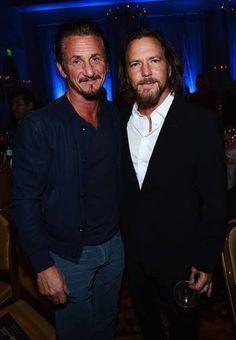 Sean Penn and Eddie Vedder