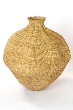 Africa | Contemporary Xhosa basket from the cooperative work of  Design Afrika ~ Binky Newman and local women.