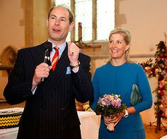 ladymollyparker:  The Earl and Countess of Wessex visited Dorchester Abbey, April 25, 2014