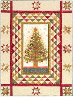 "Designed by Better if Thread for Robert Kaufman Fabrics. The final quilt measures 57.5"" x 76"" and is avalable in three color stories: Holiday, Gold and Winter. All are Fat Quarter friendly. This project uses fabrics from Winter's Grandeur 3 and Fusions® Regent."