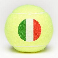 Italy Italian Italia Tricolore Flag Tennis Balls - stripes gifts cyo unique style