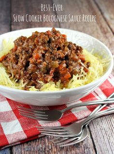 Best- Ever Slow Cooker Bolognese Sauce #recipe