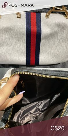 White bag White bag, never used! Bought it online. Has little two marks as seen in the picture. Bags