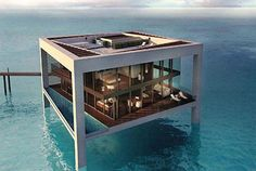 A house in the ocean