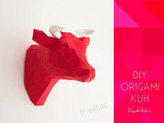 DIY Origami Bull Head