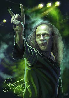 Ronnie James Dio The King of Metal Heavy Metal Rock, Heavy Metal Music, Heavy Metal Bands, Power Metal, Black Sabbath, Portsmouth, Metallica, James Dio, Tribute