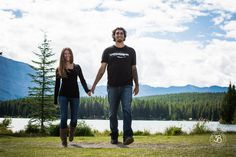 Love when we get lucky and have warm days in September! We had a chance to photograph this lovely couple at Two Jack Lake in Banff National Park! The 38 Photography - Engagement Photographer