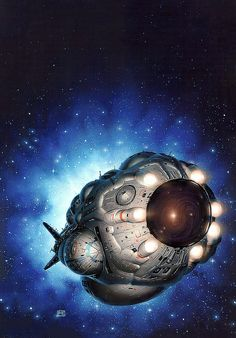 Peter Elson - Mission to the Stars 7 by myriac, via Flickr   Click through for a larger image