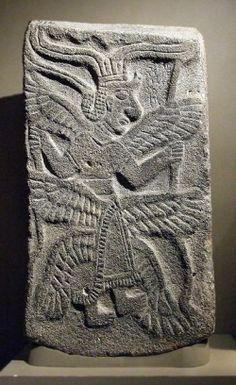 – Six-winged Hittite basalt relief, 65x35.5 cm from Tel Halaf, Iraq (Ency. Jud. 14.1179, Walters Art Gallery, Baltimore, Md.) saraph 6-winged Hittite basalt 65x35cm Tel Halaf Iraq EJ1179 Walters Art Gallery Baltimore Md