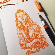 "7,562 Me gusta, 19 comentarios - unique (@uniquelab) en Instagram: "" #pentel brushpen on #leuchtturm1917 note. #illustration #drawing #sketch #sketchbook #ink…"""