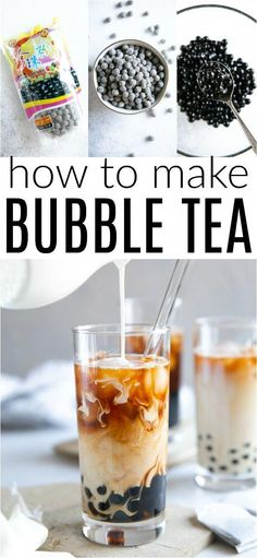 Learn How to Make Bubble Tea with this creamy, delicious, and surprisingly simple Bubble Tea Recipe!<br> Learn How to Make Bubble Tea with this creamy, delicious, and surprisingly simple Bubble Tea Recipe! Yummy Drinks, Healthy Drinks, Yummy Food, Refreshing Drinks, Tea Drinks, Cocktails, Healthy Food, Healthy Recipes, Beverages