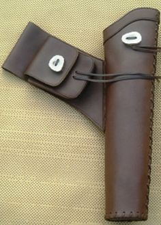 traditional hand made leather quivers
