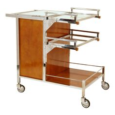 Art Deco Bar Cart By Jacques Adnet France Circa 1935
