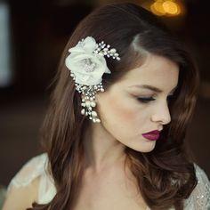 Miriam Crystal Flower Headpiece