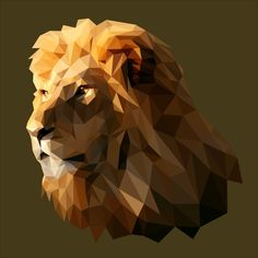 Low Poly Lion by PicturelizeThis
