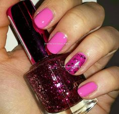 Pink Breast Cancer Awareness Manicure sinful colors pink forever with p2 go crazy