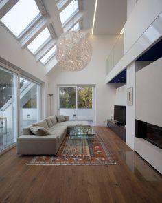 Wohnung D. : Ausgefallene Wohnzimmer von schröckenfuchs∞architektur