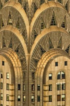 The height of shine: Art Deco architecture...amazing shot of the Chrysler building.