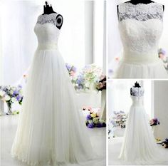 2013 ivory Lace A Line wedding dresses with short sleeve & backless style AB2455 on Etsy, $158.00