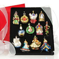 Winter Lane 12 Days of Christmas Glass Ornaments at HSN.com.