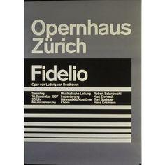 Opernhaus Zürich - Fidelio - Oper von Ludwig Van Beethoven-Plakat