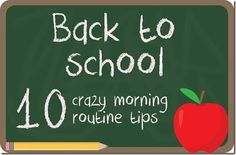 Back To School Tips for your morning routine. Great tips from The Hankful House. Back To School Organization, Back To School Hacks, Back 2 School, First Day Of School, School Tips, School Daze, School Fun, Morning Routine Kids, Kids Learning