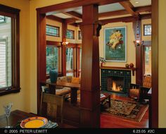 Interior Photo: Gorgeous Craftsman Style Interiors Ideas Inspiration To Your House, home interior, craftsman style interior, cozy chair ~ Manningmarable Craftsman Style Interiors, Craftsman Living Rooms, Craftsman Interior, Craftsman Style Homes, Craftsman Bungalows, Craftsman Windows, Modern Craftsman, Interior Photo, Home Interior