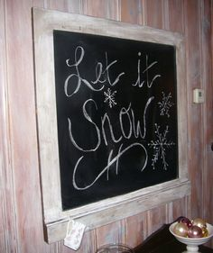 Purchase old frames from thrift store and turn into a beautiful vintage looking chalk board.