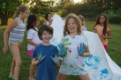 Centauri Summer Arts Camp. Kids love to paint with their hands!