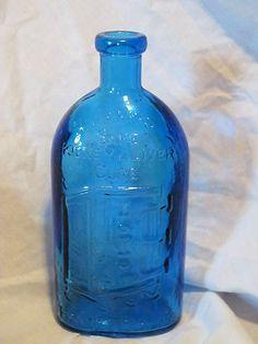 Kidney & Liver Cure Blue Glass Bottle