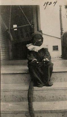 Halloween black cat costume, 1924