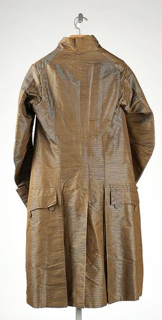 Suit (Back)  Date:     late 18th century Culture:     probably French Medium:     silk Dimensions:     [no dimensions available] Credit Line:     G... Accession Number: C.I.66.1.2a–c