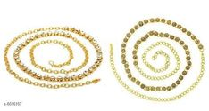 Kamarband and Belly Chains Stylish Women's kamarband Base Metal: Alloy Plating: Gold Plated Stone Type: Artificial Stones Type: Chain Multipack: 2 Sizes: Free Size Country of Origin: India Sizes Available: Free Size   Catalog Rating: ★4.1 (1776)  Catalog Name: Diva Fancy Women Kamarband CatalogID_912237 C77-SC1420 Code: 872-6016107-156