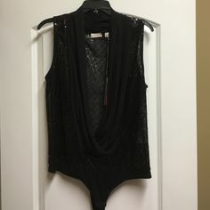 BNWT Super Sexy Black Sequin Bodysuit BNWT Eva Mendes Sequin Bodysuit New York & Company Tops