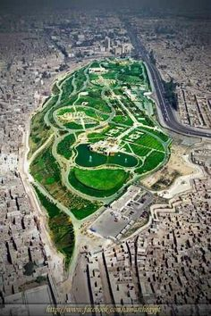 Al Azhar Park, in the heart of Islamic Cairo