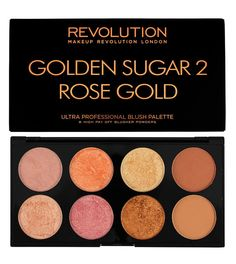 Makeup Artist ^^ | https://pinterest.com/makeupartist4ever/  Makeup Revolution - Ultra Blush e contorno paleta  - Golden Sugar 2 (Ya la tengo!!)
