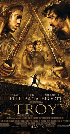 Directed by Wolfgang Petersen.  With Brad Pitt, Eric Bana, Orlando Bloom, Julian Glover. An adaptation of Homer's great epic, the film follows the assault on Troy by the united Greek forces and chronicles the fates of the men involved.
